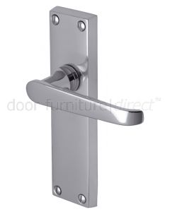 Victoria Straight Lever Polished Chrome Latch Door Handles