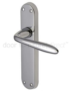 Sutton Straight Lever Polished Chrome Latch Door Handles