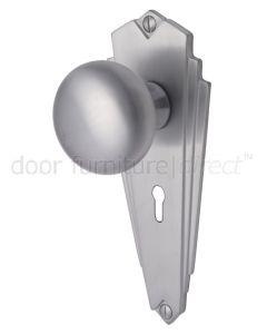 Broadway Satin Chrome Keyhole Door Knob Set