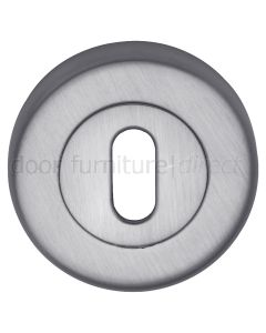 Satin Chrome Round Key Hole Escutcheon 53mm