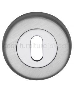 Dual Finish Chrome Round Key Hole Escutcheon 53mm