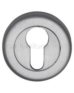 Satin Chrome Euro Profile Escutcheon 53mm