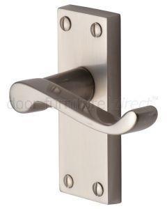 Contract Plain Victorian Satin Nickel Scroll Latch Door Handles