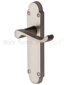 Contract Victorian Satin Nickel Scroll Lever Latch Door Handles
