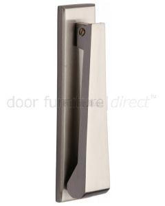Heritage Satin Nickel Contemporary Door Knocker 165x40mm