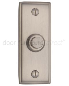 Satin Nickel Rectangular Front Door Bell 83x33mm