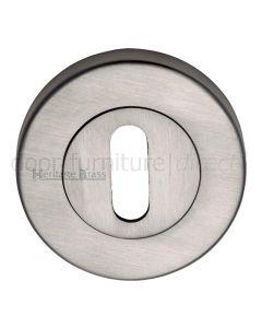 Satin Nickel Slotted Open Escutcheon 53mm