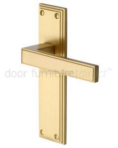 Heritage ATL5710 Satin Brass Atlantis Latch Door Handles