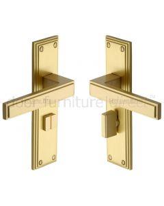 Heritage ATL5730 Satin Brass Atlantis Bathroom Door Handles