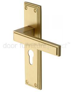 Heritage ATL5748 Satin Brass Atlantis Euro Door Handles