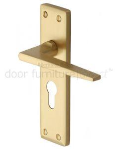 Heritage KEN6848 Satin Brass Kendal Euro Door Handles