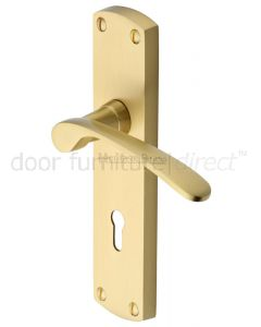 Heritage DIP7800 Satin Brass Diplomat Lock Door Handles