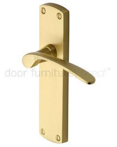 Heritage DIP7810 Satin Brass Diplomat Latch Door Handles