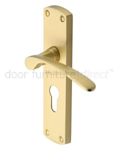 Heritage DIP7848 Satin Brass Diplomat Euro Door Handles