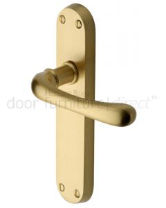 Heritage LUN5310 Satin Brass Luna Latch Door Handles