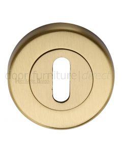 Heritage V4000 Satin Brass Key Escutcheon 53mm