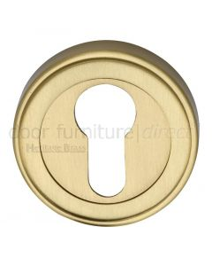 Heritage ERD7020 Satin Brass Euro Cylinder Escutcheon 53mm