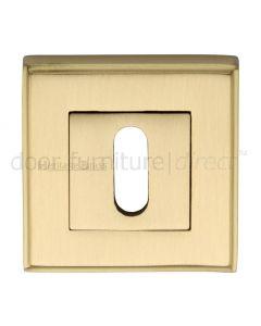 Heritage DEC7000 Satin Brass Square Key Escutcheon 54mm
