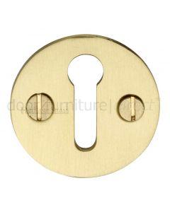 Heritage V1010 Satin brass Key Escutcheon 32mm