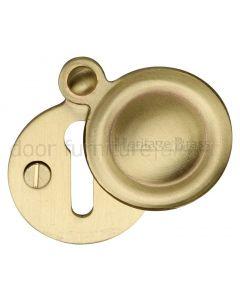 Heritage V1020 Satin Brass Covered Escutcheon