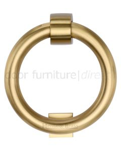 Heritage K1270 Satin Brass Ring Door Knocker 107mm