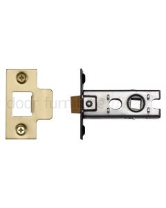 York Tubular Mortice Latch 2.5in Satin Brass