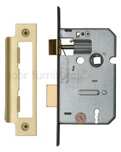 York 3 Lever Mortice Sashlock 2.5in (65mm) Satin Brass