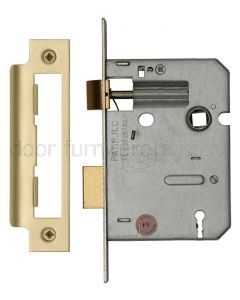 York 3 Lever Mortice Sashlock 3in (78mm) Satin Brass