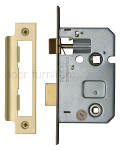 York Bathroom Mortice Lock 2.5in (65mm) Satin Brass