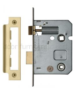 York Bathroom Mortice Lock 3in (78mm) Satin Brass