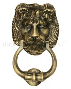Heritage K1210 Antique Brass Lion Door Knocker