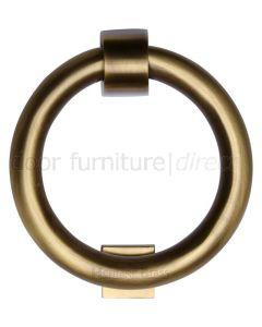 Heritage K1270 Antique Brass Ring Door Knocker 107mm