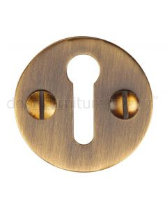 Heritage V1010 Antique Brass Circular Escutcheon 32mm