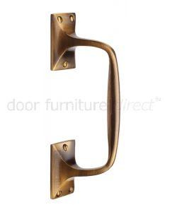 Heritage V1150 Antique Brass Cranked Pull Handle 202mm