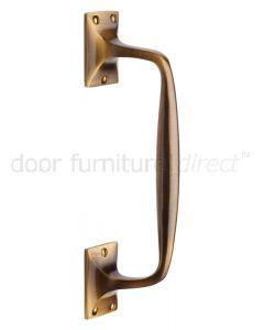Heritage V1150 Antique Brass Cranked Pull Handle 253mm