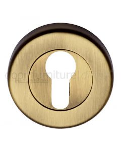 Heritage V4020 Antique Brass Euro Escutcheon 53mm