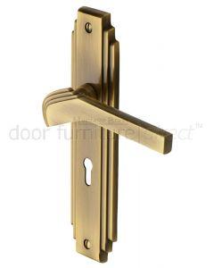 Heritage TIF5200 Antique Brass Tiffany Lock Handles