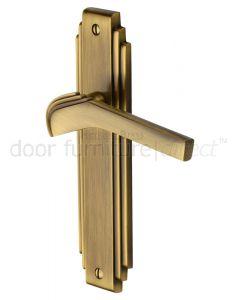 Heritage TIF5210 Antique Brass Tiffany Latch Handles