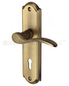 Heritage HOW1300 Antique Brass Howard Lock Handles