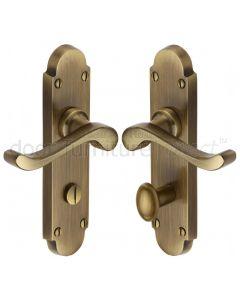 Heritage S620 Antique Brass Savoy Bathroom Door Handles