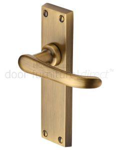 Heritage V713 Antique Brass Windsor Latch Handles