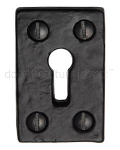 Black Antique Iron Tudor Rectangular Keyhole Cover 49x31mm