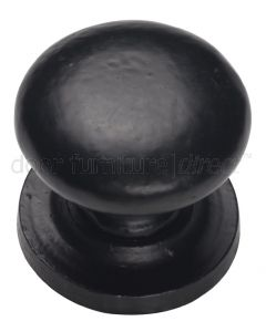Black Antique Iron Tudor Round Cupboard Knob