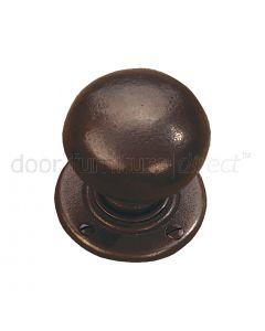 Rustic Bronze Bun Mortice Door Knobs