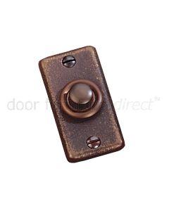 Rustic Bronze Bell Push 60 x 30mm.