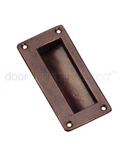 Rustic Bronze Flush Pull 89x41mm