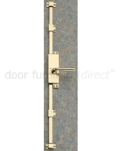Lever Operated Brass Espagnolette Bolt