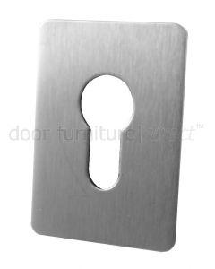 Self Adhesive EURO Escutcheon Stainless Steel