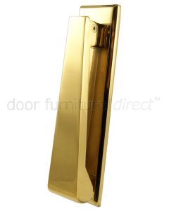 Slimline Door Knocker PVD 166x40mm