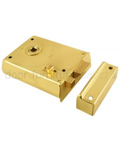 Brass Rim Latch With Slide Latch